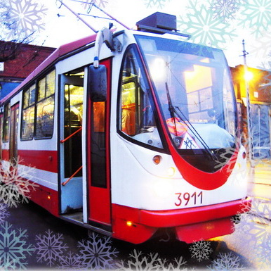 Лучшая детская новогодняя елка 2016 Новогоднее путешествие в трамвае